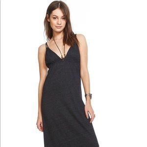 CHASER Brand Triblend Strappy Maxi Dress - GRAY